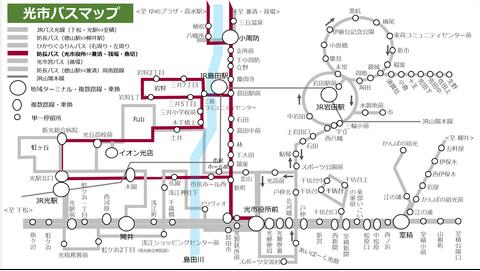 防長バス熊毛線_路線図