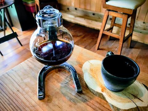 ange_サイフォンとコーヒー