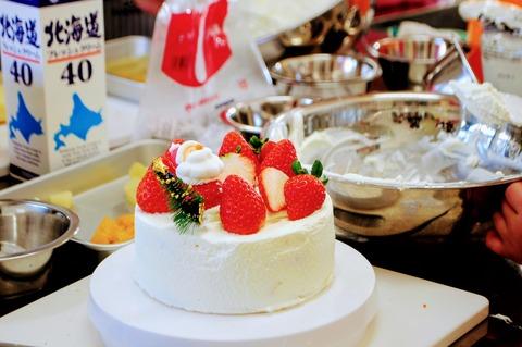 クリスマスケーキ教室里の厨_015