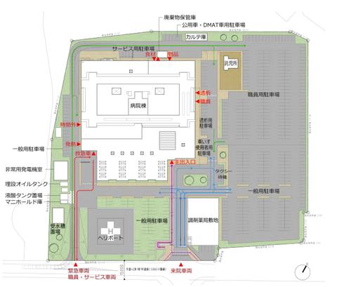 新光総合病院配置図_基本計画概要版