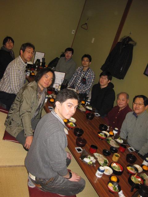 道後食事集合写真