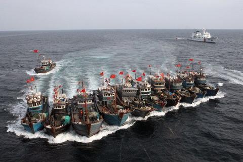 サンゴ密漁船