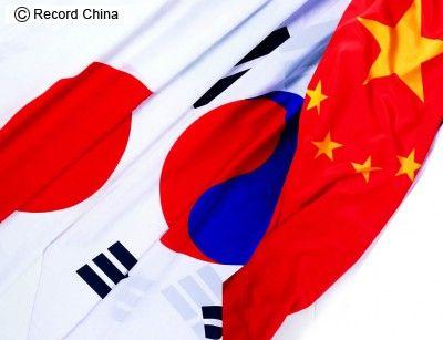日本・韓国・中国・国旗