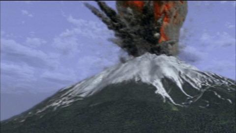 富士山が爆発
