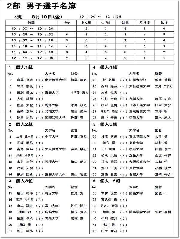 インカレ名簿1