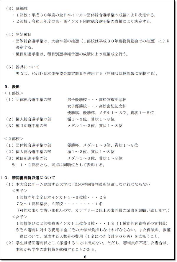 ●●インカレ要項6