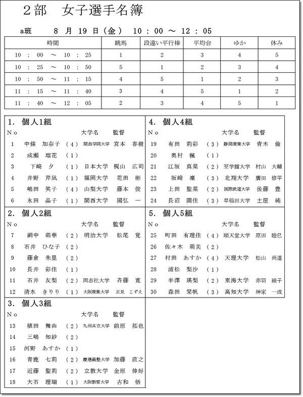 インカレ名簿8