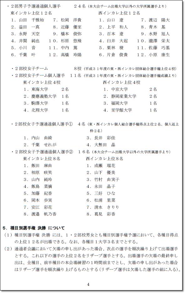 ●●インカレ要項4