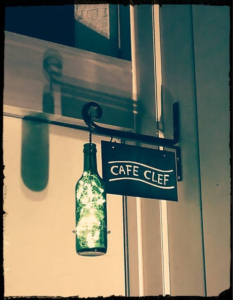 cafe clef 看板
