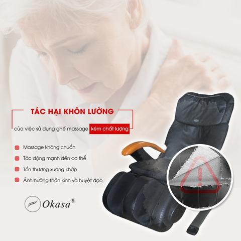 Vì sao người già nên có một chiếc ghế massage
