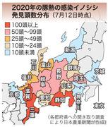 豚熱感染イノシシ拡大(日本農業新聞)