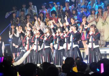 【NGT出演!】<AKB48と国内の姉妹グループによるコンサート>山口さんら数人の姿なし