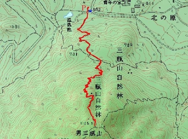 200602三瓶山姫逃池コース