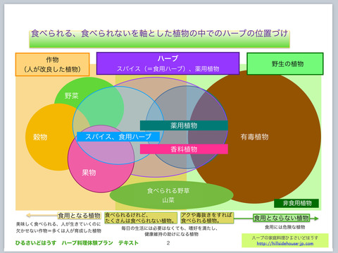 ハーブ料理講座図表1