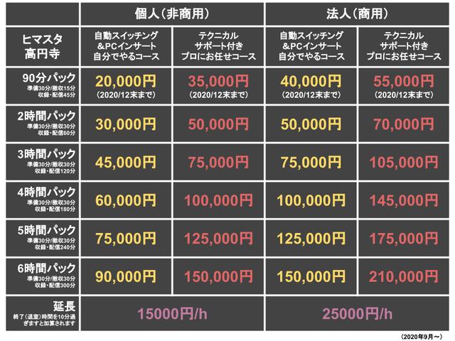 202009_ヒマスタ高円寺料金プラン