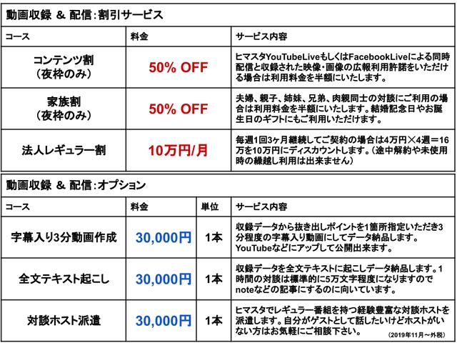 ヒマスタ六本木料金2_201901