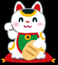 招き猫の絵_e0