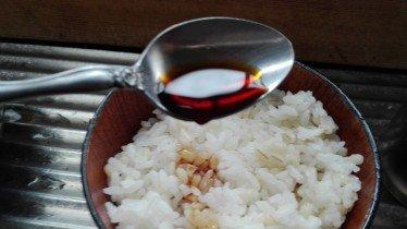 ご飯に醤油2