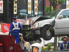 名古屋・錦三丁目で高齢者ドライバーの交通事故が発生