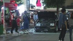 逮捕の75歳運転手「覚えていない」 歩道にタクシー 7人けが