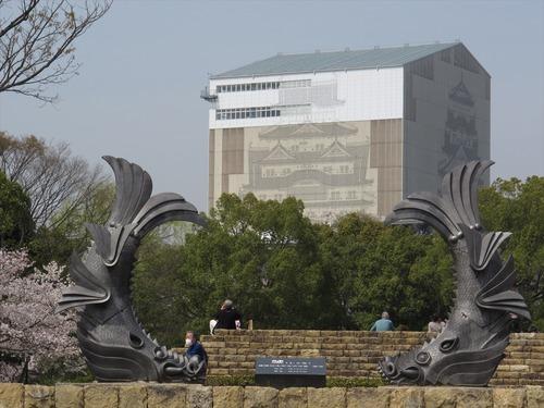 鯱から姫路城