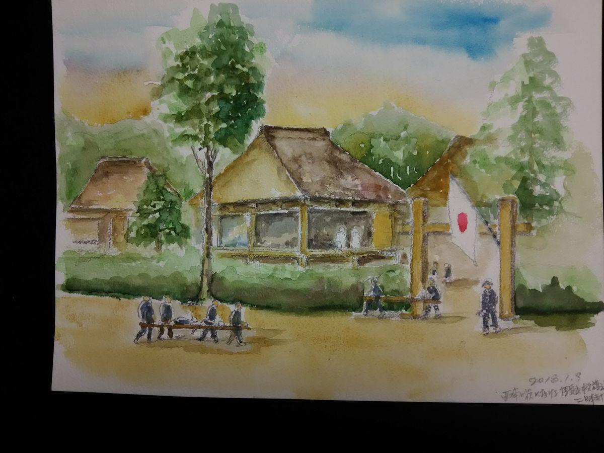 姫とコム : 博愛社救護所の図画