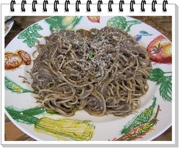 �ブラウンマッシュルームのスパゲティ枠