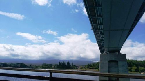 遊覧船 橋の下