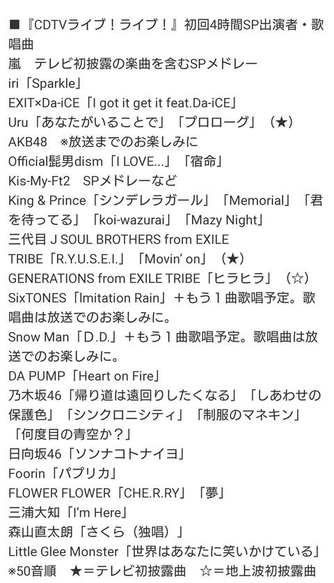 【速報】乃木坂46さん、歌番組でまさかの5曲披露することにwwwwwwwwwww【CDTVライブ!ライブ!】
