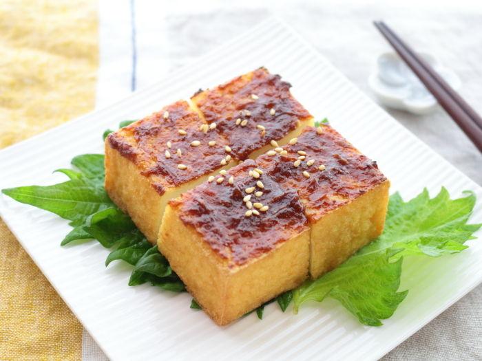 父の日のおつまみも10分で作る!トースターお任せ簡単レシピ☆厚揚げの梅肉みそ焼き
