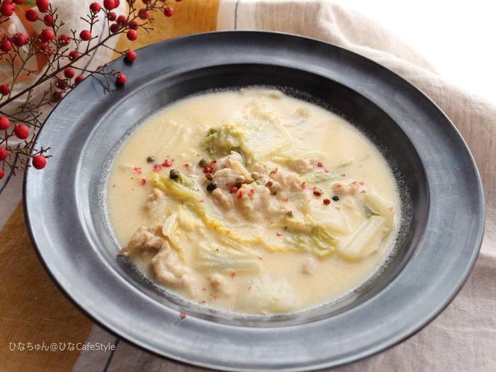 米粉で作る!白菜と豚肉のチーズinシチュー