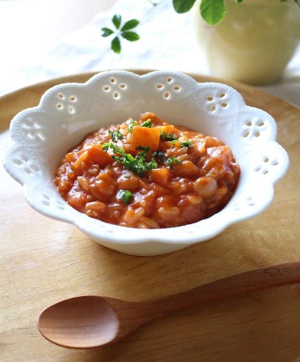 食べるトマトスープからの・・・トマトチーズリゾット