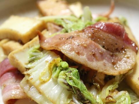 厚揚げと白菜のバター醤油炒め3