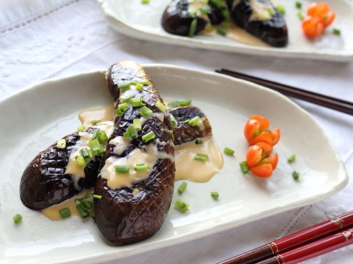 茄子の洋風ステーキ☆醤油マヨソースで洋風味