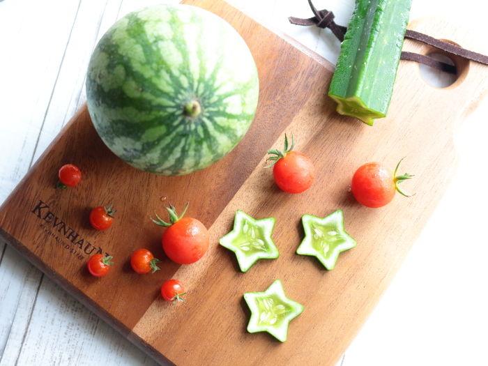 0718夏野菜収穫・真俯瞰1