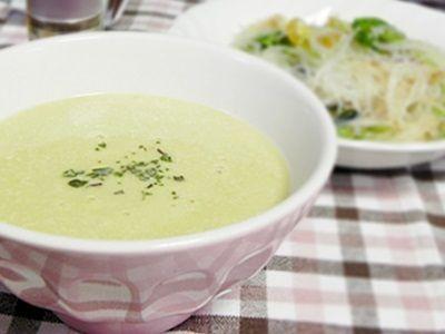 """""""家庭用電気圧力鍋""""で作る 枝豆と山芋の冷製ポタージュ"""