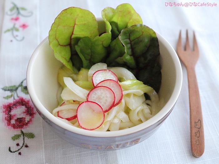 春野菜のマリネサラダ☆庭から収穫して節約したり( ´艸`)