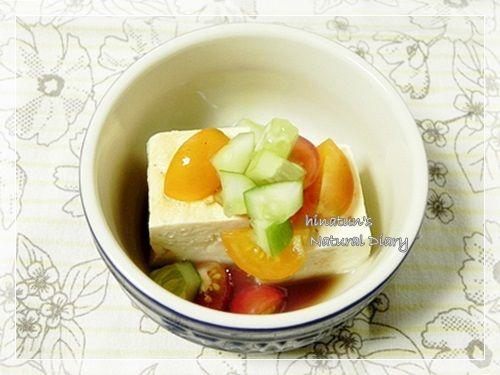 お豆腐サラダ