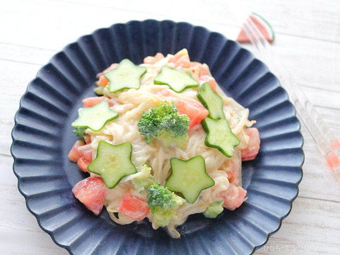 夏野菜のまろやか素麺