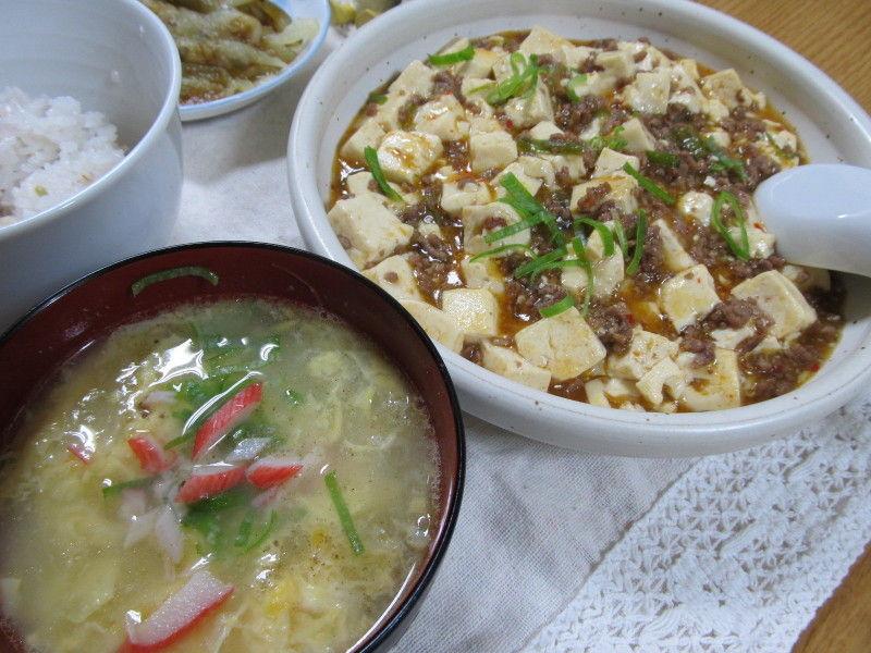 hinatunの!なちゅらる日記-卵スープ&マーボ豆腐