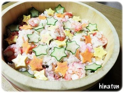 ☆七夕そうめん と お星様いっぱいのちらし寿司☆