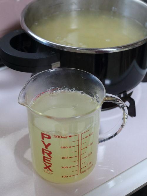 ゆで汁500ml