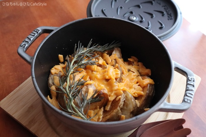 ローズマリー香るチーズのせフライドポテト