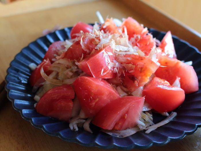 岐阜県産冬春トマトの玉ねぎとしらす和え【レシピ】岐阜クッキングアンバサダー