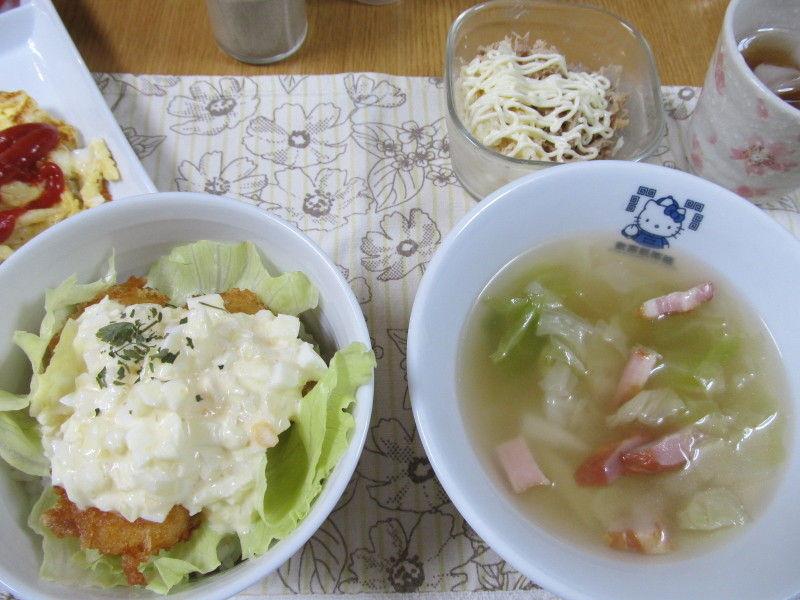hinatunの!なちゅらる日記-エビフライ丼&ポトフ