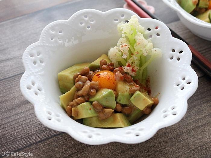 アボカドの納豆和え☆簡単なのに栄養価抜群!納豆効果で便秘も改善♪毎日快適生活
