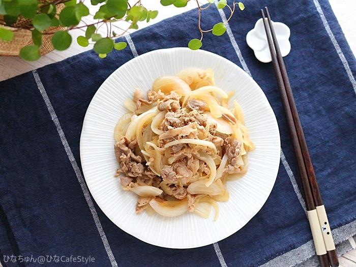 牛肉と新たまのポン酢和え☆作り置きOK!