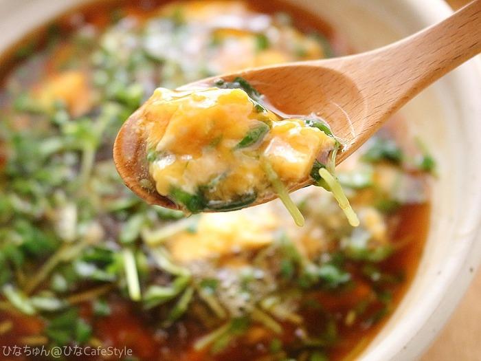 豆苗のたまごとじあんかけ☆キッチンバサミで簡単に!包丁・まな板いらずの豆苗レシピコンテスト