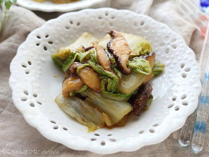 白菜のとろ~りオイバタ炒め