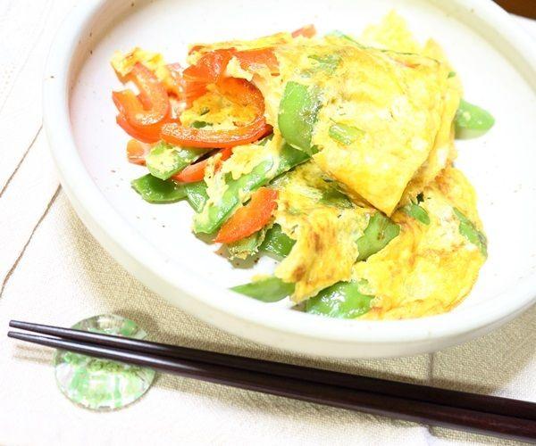夏野菜の卵とじw